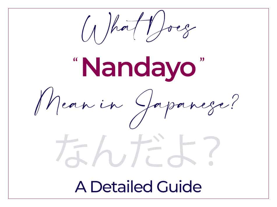 What Does Nandayo Mean in Japanese A Detailed Guide How to Use なんだよ 何だよ