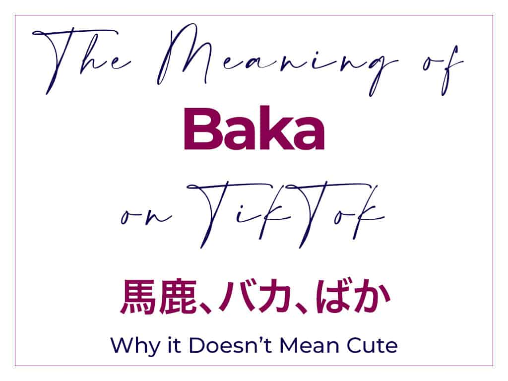 What Does Baka Mean in Tik Tok - Why it Doesn't Mean Cute